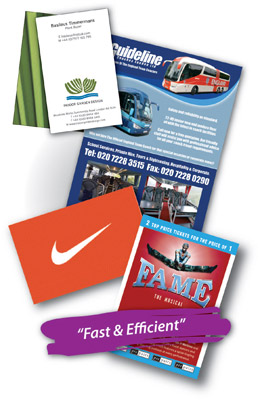 Images of stationery, leaflets, business cards, brochures printed by Watercress Print